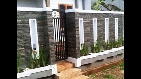 Desain Gambar Pagar Rumah Minimalis Batu Alam Sinergi Stone